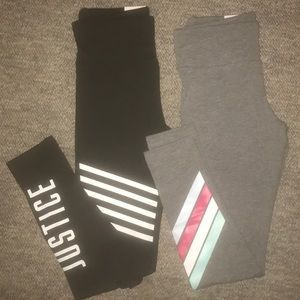 2 pairs-Justice-kid Leggings